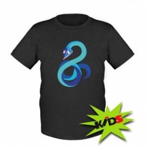 Kids T-shirt Blue snake