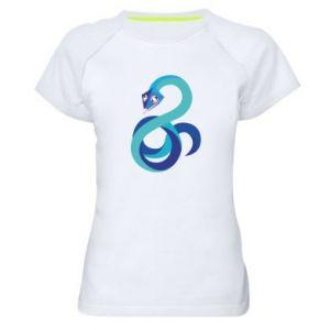 Koszulka sportowa damska Blue snake