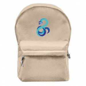 Plecak z przednią kieszenią Blue snake