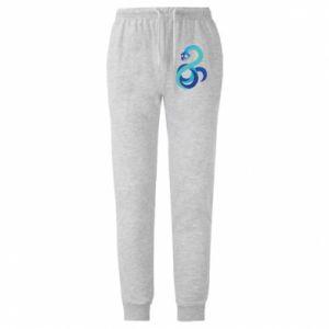 Spodnie lekkie męskie Blue snake