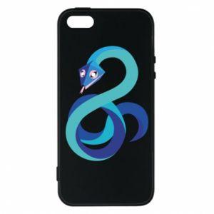Etui na iPhone 5/5S/SE Blue snake