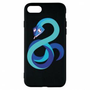 Etui na iPhone 7 Blue snake
