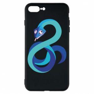 Etui na iPhone 8 Plus Blue snake