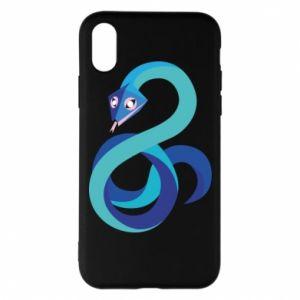 Etui na iPhone X/Xs Blue snake