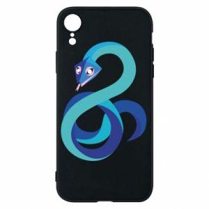 Etui na iPhone XR Blue snake