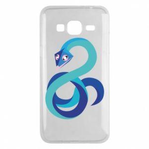 Etui na Samsung J3 2016 Blue snake
