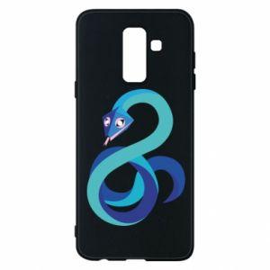 Etui na Samsung A6+ 2018 Blue snake
