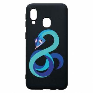 Etui na Samsung A40 Blue snake