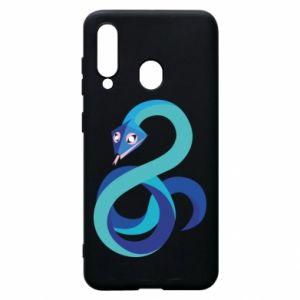Etui na Samsung A60 Blue snake