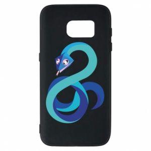 Etui na Samsung S7 Blue snake