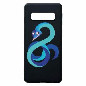 Etui na Samsung S10 Blue snake