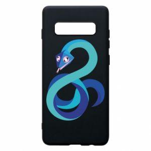 Etui na Samsung S10+ Blue snake