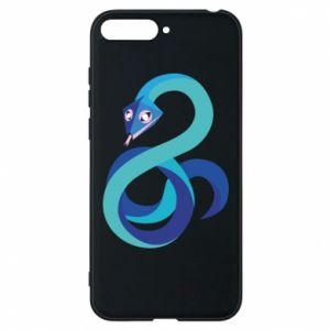 Etui na Huawei Y6 2018 Blue snake