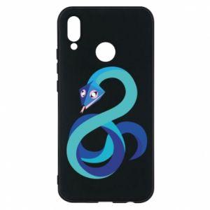 Etui na Huawei P20 Lite Blue snake