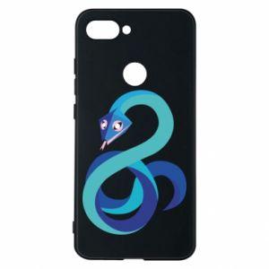 Etui na Xiaomi Mi8 Lite Blue snake