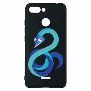 Etui na Xiaomi Redmi 6 Blue snake
