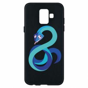 Etui na Samsung A6 2018 Blue snake