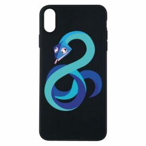 Etui na iPhone Xs Max Blue snake