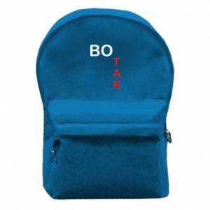 Plecak z przednią kieszenią Bo tak