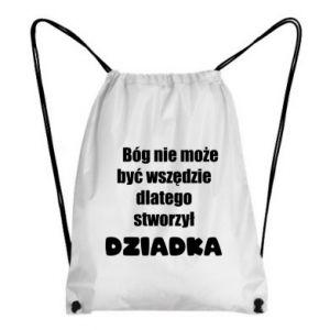 Plecak-worek Bóg nie może być wszędzie, dla dziadka