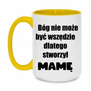 Two-toned mug 450ml God can not be everywhere, that's why he created mum