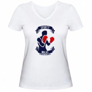 Women's V-neck t-shirt Boxer