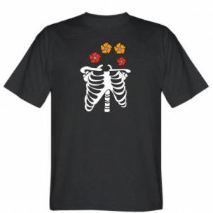T-shirt Bones with flowers