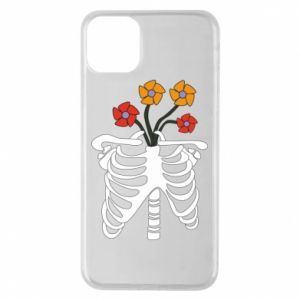 Phone case for iPhone 11 Pro Max Bones with flowers