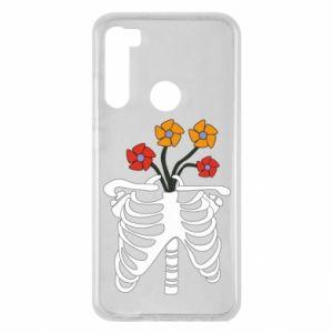 Etui na Xiaomi Redmi Note 8 Bones with flowers