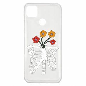 Etui na Xiaomi Redmi 9c Bones with flowers