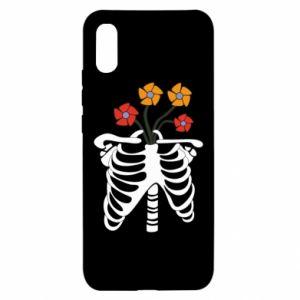 Etui na Xiaomi Redmi 9a Bones with flowers