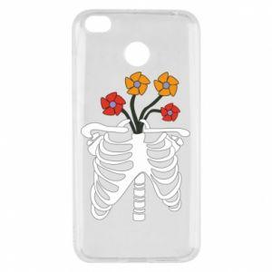 Etui na Xiaomi Redmi 4X Bones with flowers
