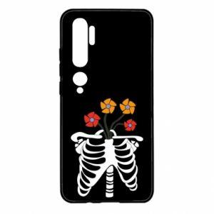 Etui na Xiaomi Mi Note 10 Bones with flowers