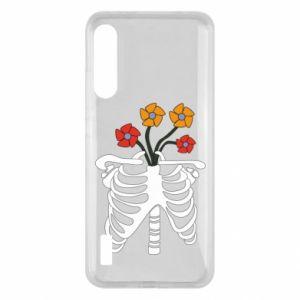 Etui na Xiaomi Mi A3 Bones with flowers