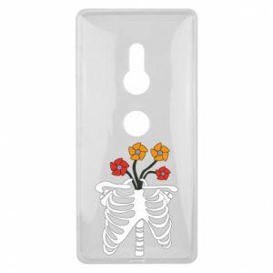 Etui na Sony Xperia XZ2 Bones with flowers