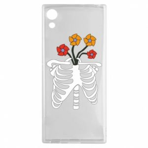 Etui na Sony Xperia XA1 Bones with flowers