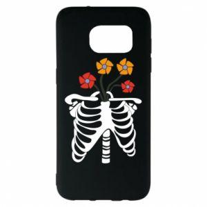 Etui na Samsung S7 EDGE Bones with flowers