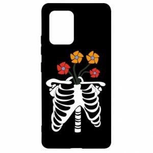 Etui na Samsung S10 Lite Bones with flowers
