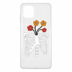 Etui na Samsung Note 10 Lite Bones with flowers