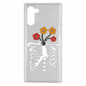 Etui na Samsung Note 10 Bones with flowers