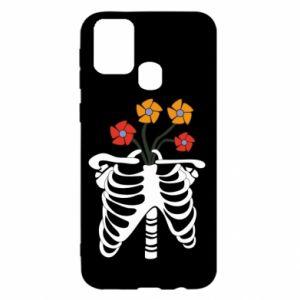 Etui na Samsung M31 Bones with flowers