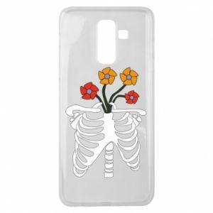 Etui na Samsung J8 2018 Bones with flowers