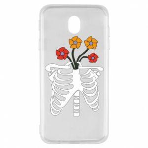 Etui na Samsung J7 2017 Bones with flowers