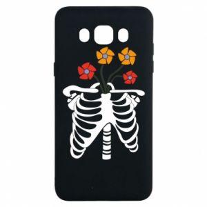 Etui na Samsung J7 2016 Bones with flowers