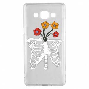 Etui na Samsung A5 2015 Bones with flowers