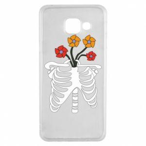 Etui na Samsung A3 2016 Bones with flowers