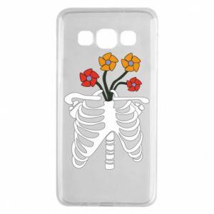 Etui na Samsung A3 2015 Bones with flowers
