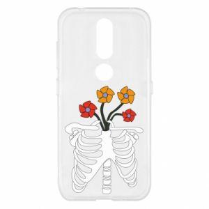 Etui na Nokia 4.2 Bones with flowers