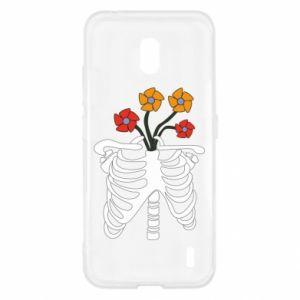 Etui na Nokia 2.2 Bones with flowers