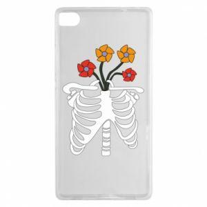 Etui na Huawei P8 Bones with flowers